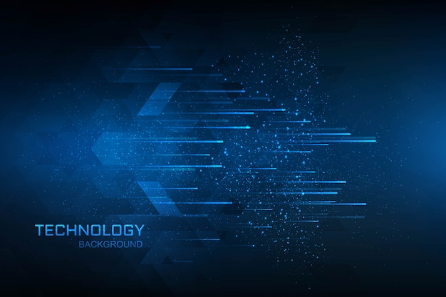 Technology digital concept blue background