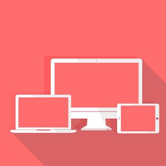 기술 디지털 장치 아이콘 벡터 개념