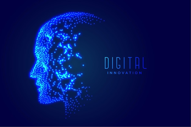 Technology digital face artificial intelligence concept