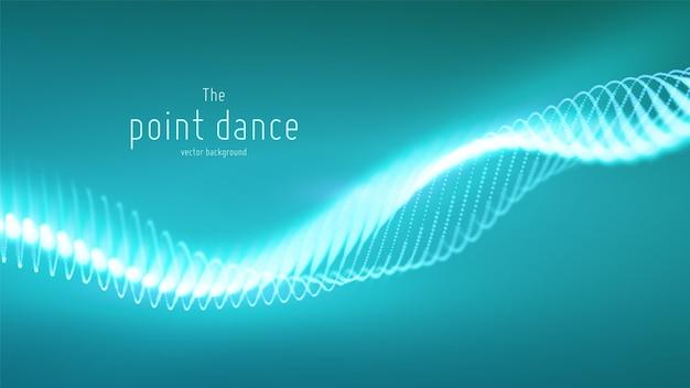 テクノロジーのデジタルスプラッシュまたはデータポイントの背景の爆発。ポイントダンス波形。サイバーui、hud要素。
