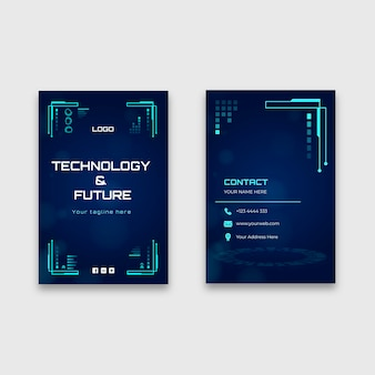 Technology double-sided business card