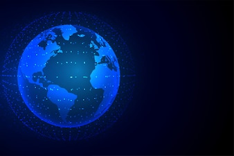 ネットワーク接続と技術地球の背景