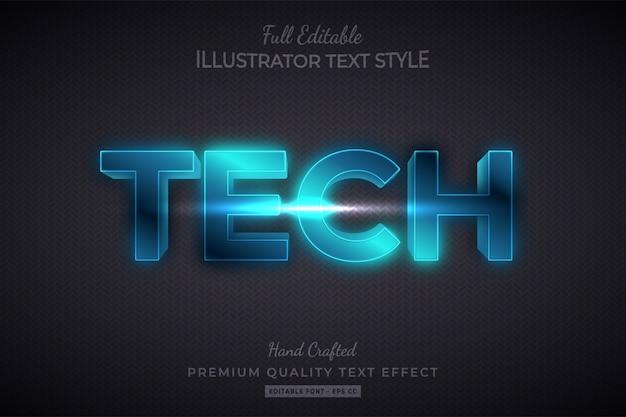 Technology editable 3d text style effect premium
