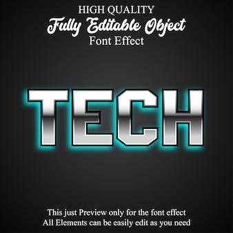Technology editable font effect