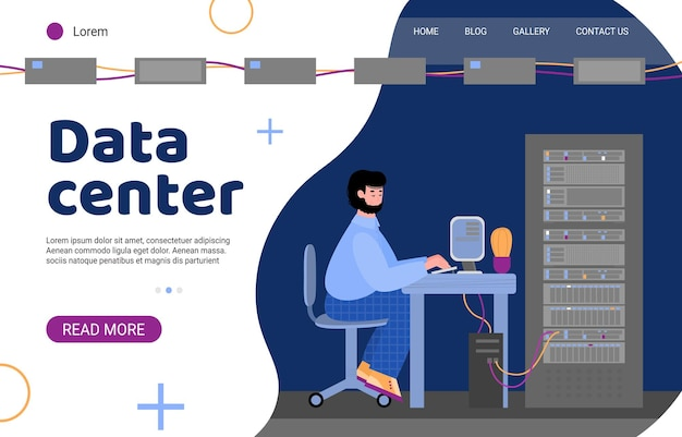 데이터 센터에 정보를 저장하는 기술.