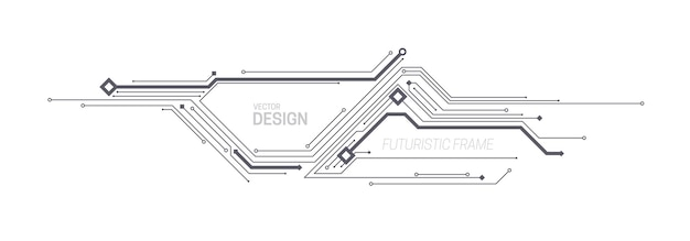 회로 기판 또는 칩 패턴을 사용한 기술 프레임 설계