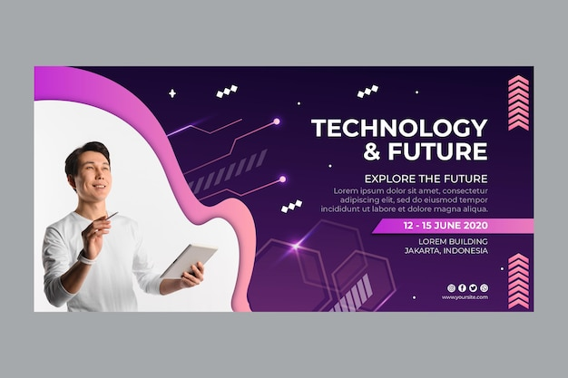 Technology and future banner template
