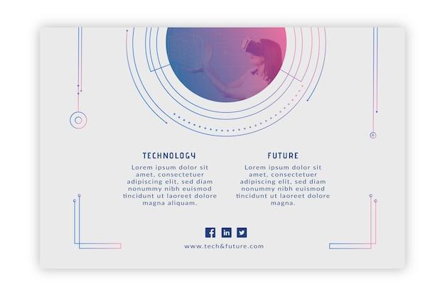 Tecnologia e banner futuro
