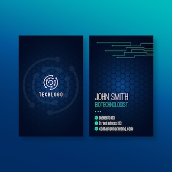 Technology and future business card template