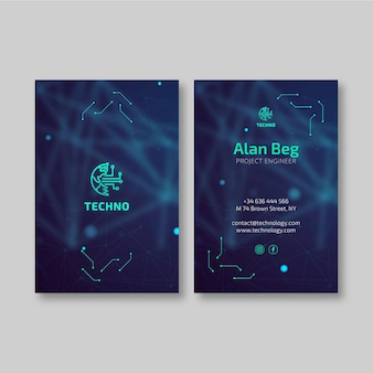 Technology and future business card