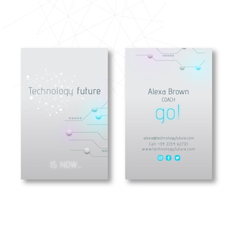 Technology & future double-sided business card