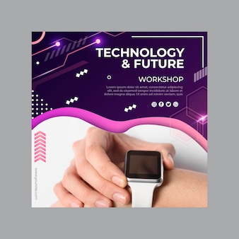 Technology and future flyer template