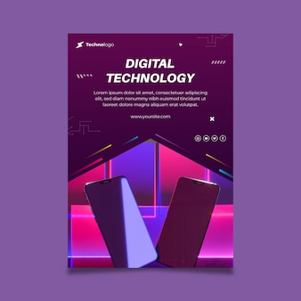 Tecnologia e futuro volantino verticale