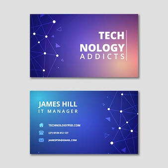 Technology and future horizontal business card