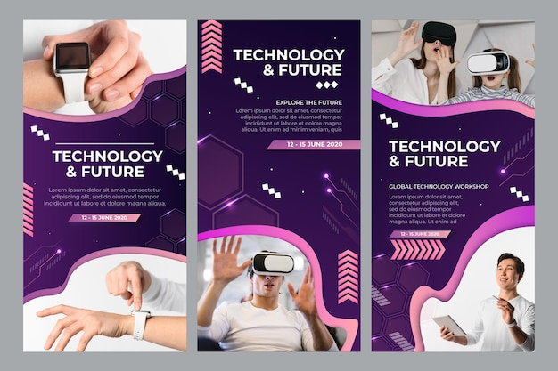 Technology and future instagram stories collection