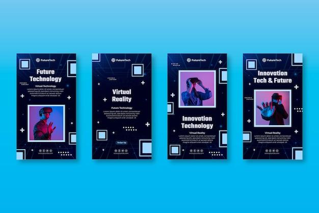 Tecnologia e storie future su instagram