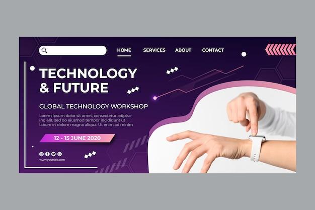 Tecnologia e futuro modello di pagina di destinazione
