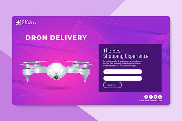 Technology & future landing page