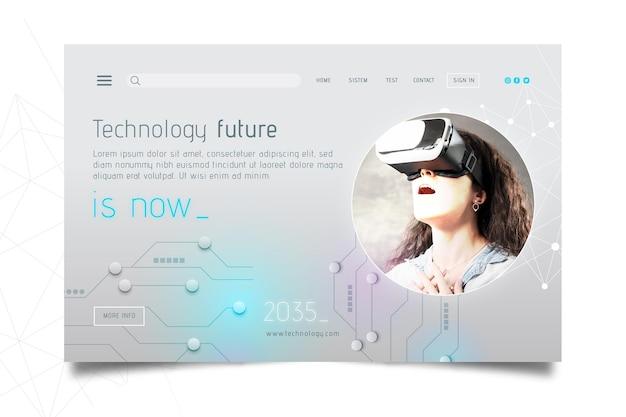 Technology & future landing page