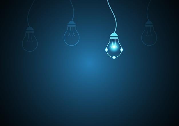 Technology future light bulb background