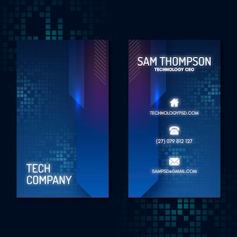 Technology and future vertical business card template