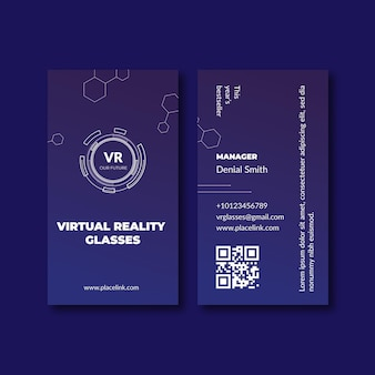 Technology & future vertical business card template
