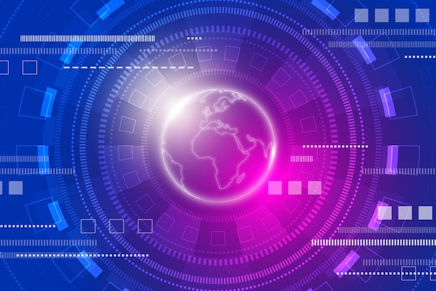 Technology futuristic background