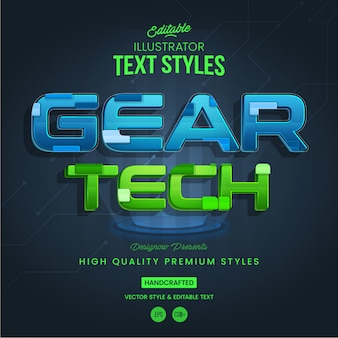 Technology futuristic text style