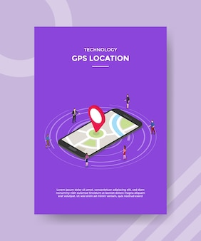 Technology gps location flyer template