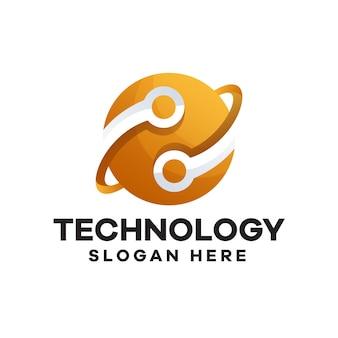 テクノロジーグラデーションロゴデザイン