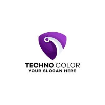 Technology gradient logo template