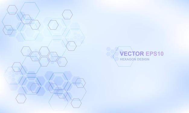 技術六角形の概念の医学的背景。ハイテク未来的なモダンな背景。
