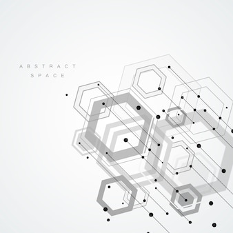 Technology hexagon style and geometric background