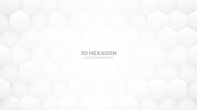 Technology hexagonal pattern minimalist white abstract background