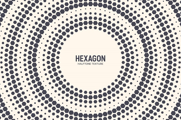 Technology hexagons abstract background