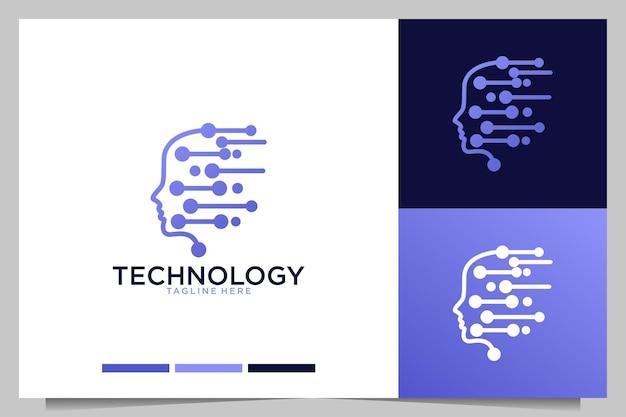Technology idea creative logo design