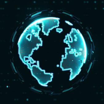 Технологическое изображение земного шара