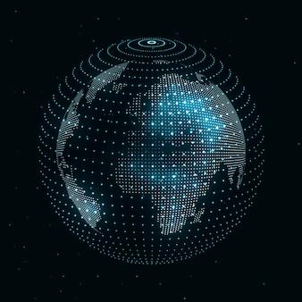세계의 기술 이미지 프리미엄 벡터