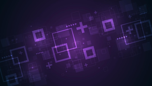 대각선 사각형을 주요 요소로 하는 디지털 개념의 기술.