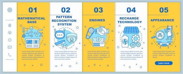 Технологии в наборе экранов мобильных приложений для робототехники