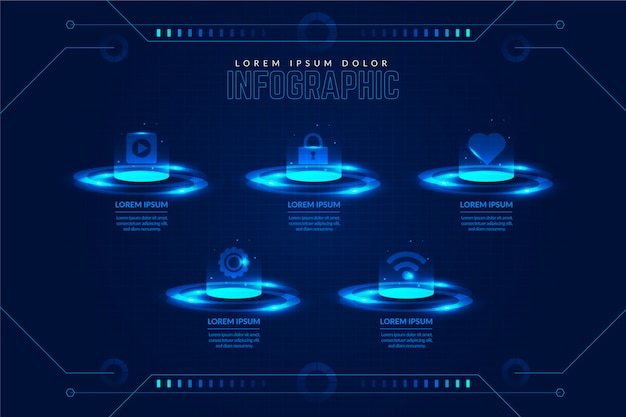 Технология инфографики шаблон