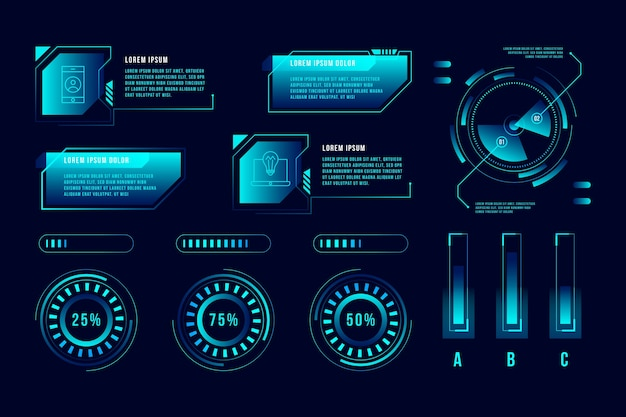 Technology infographic template