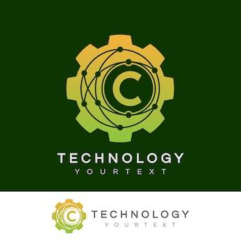 Technology initial letter c logo design