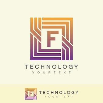 Technology initial letter f logo design