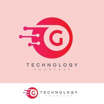 Technology initial letter g logo design Premium Vector