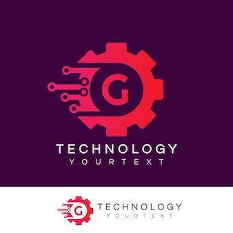 Technology initial letter g logo design