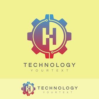 Technology initial letter h logo design