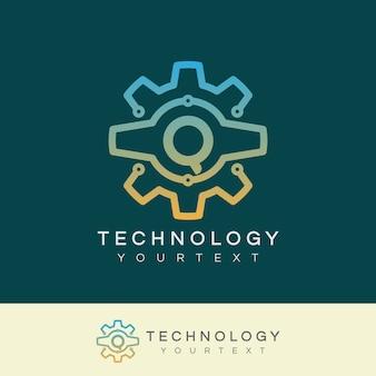 テクノロジーの初期レターqロゴデザイン