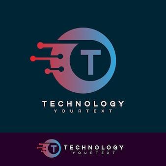 Technology initial letter t logo design