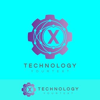 Technology initial letter x logo design